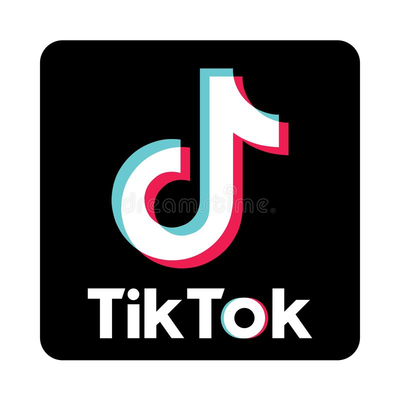 Tiktok. Simple vector filled flat Social media icons tiktok logo solid black pictogram isolated on white background vector illustration