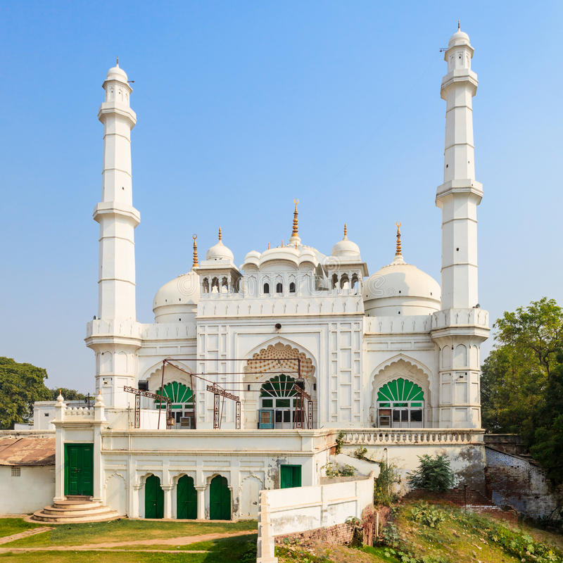 Tila Wali Masjid. Is a mosque located near the Bara Imambara in the Lucknow city of India stock image
