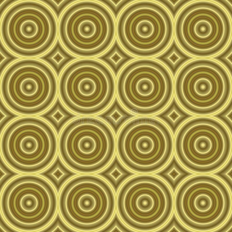 Tilable inconsútil de la textura retra de oro del fondo ilustración del vector