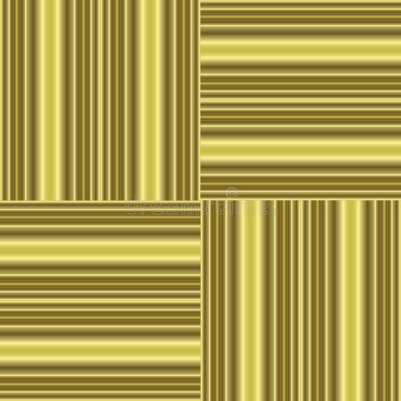 Tilable sem emenda da textura dourada do fundo ilustração stock