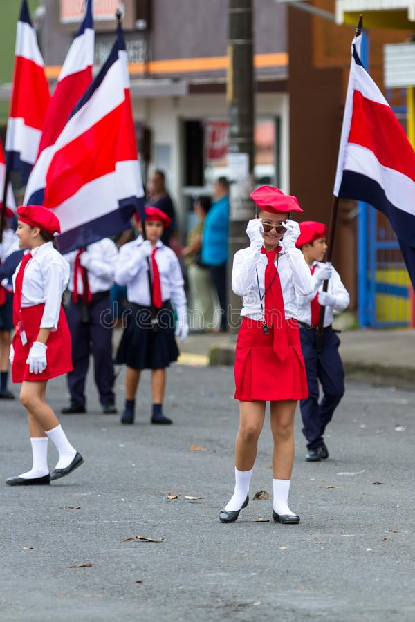 Independence day Parade, Costa Rica stock image
