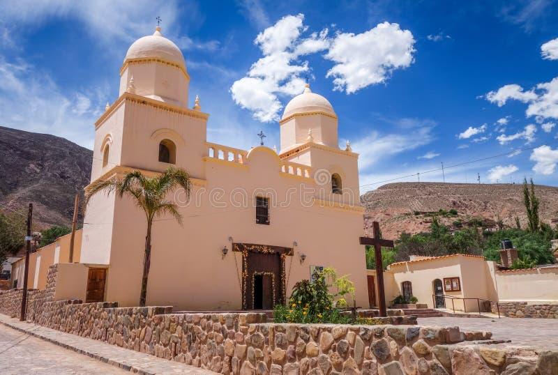 Tilcara kyrka, Argentina arkivbild