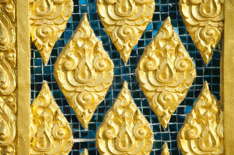 Tile Art On The Temple Wall Pattani, Thailand. Stock Image - Image ...