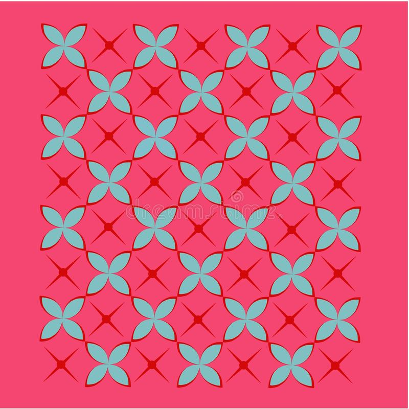 Download Tile Background In Red, Blue And Pink Stock Vector - Illustration: 11338091