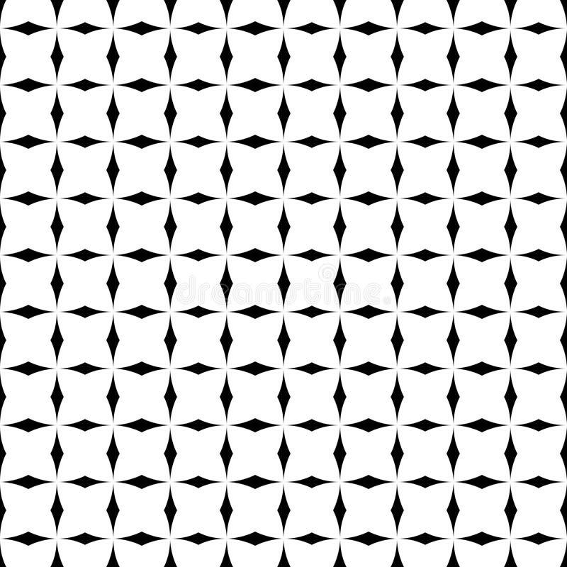 Tile black and white vector pattern vector illustration