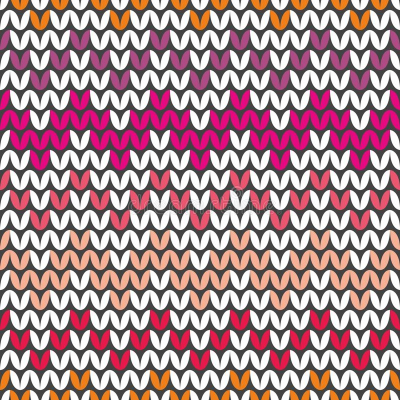 Tile Colorful Zig Zag Knitting Vector Pattern Or Winter Background For Seamless Decoration Wallpaper