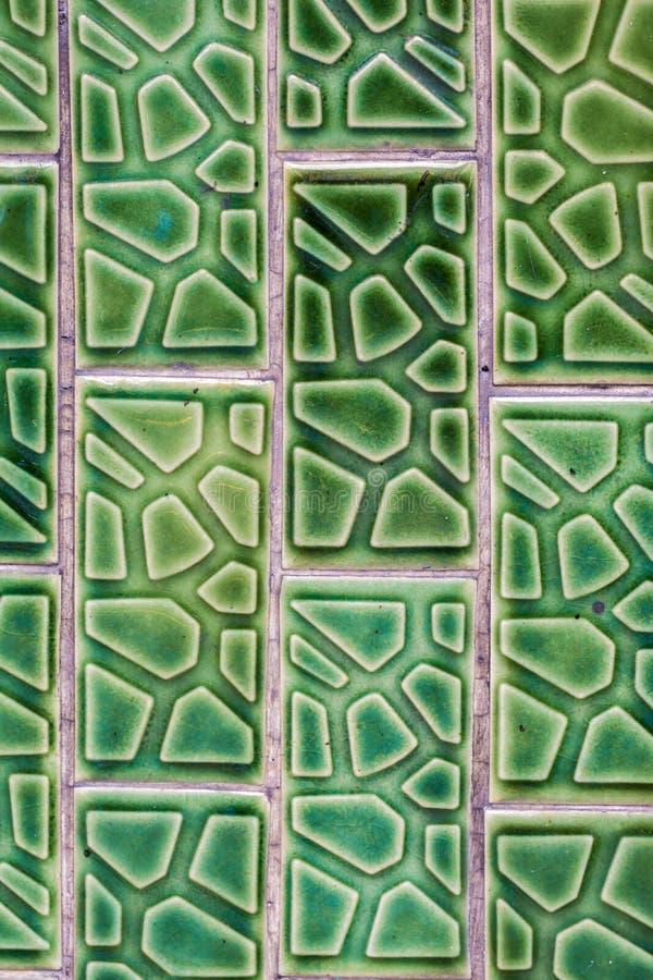 Tile concrete green pattern art.  stock photography