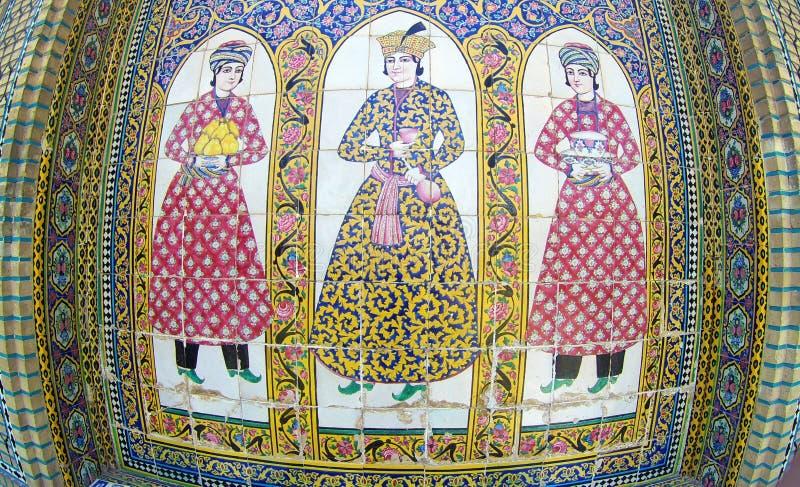 Tile decoration in Qavam house Shiraz Iran stock fotografie