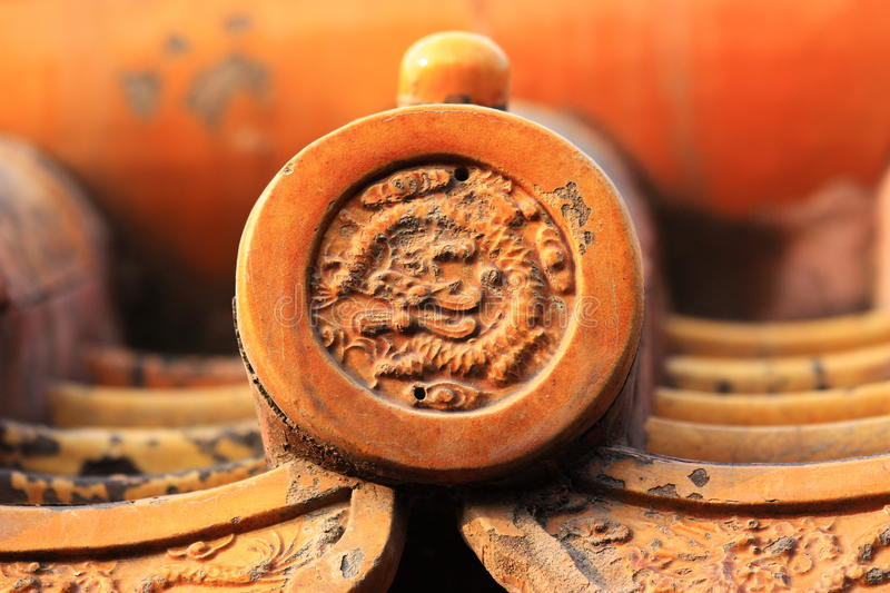 Download Tile Detail Of Chinese Historic Building Stock Image - Image: 18549857