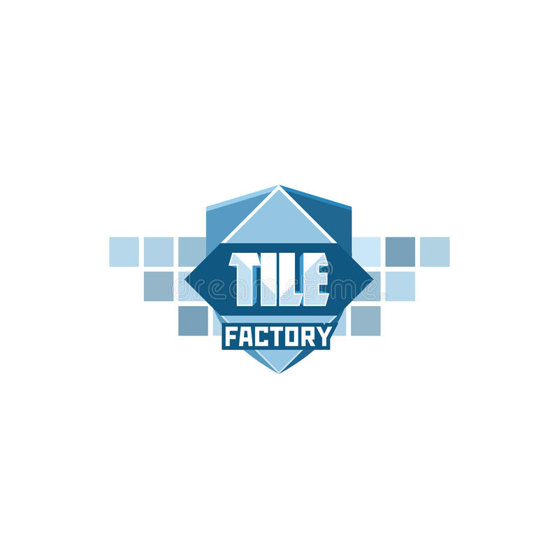 Tile factory logo template. stock illustration