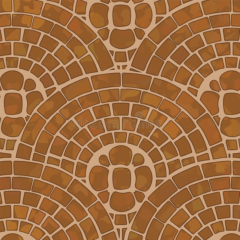 Tile ground. It is a texture of brown tile ground with mosaic pattern royalty free illustration