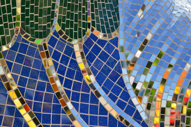 Tile and mirror Mosaics texture background. Thai style tile and mirror Mosaics texture background royalty free stock image