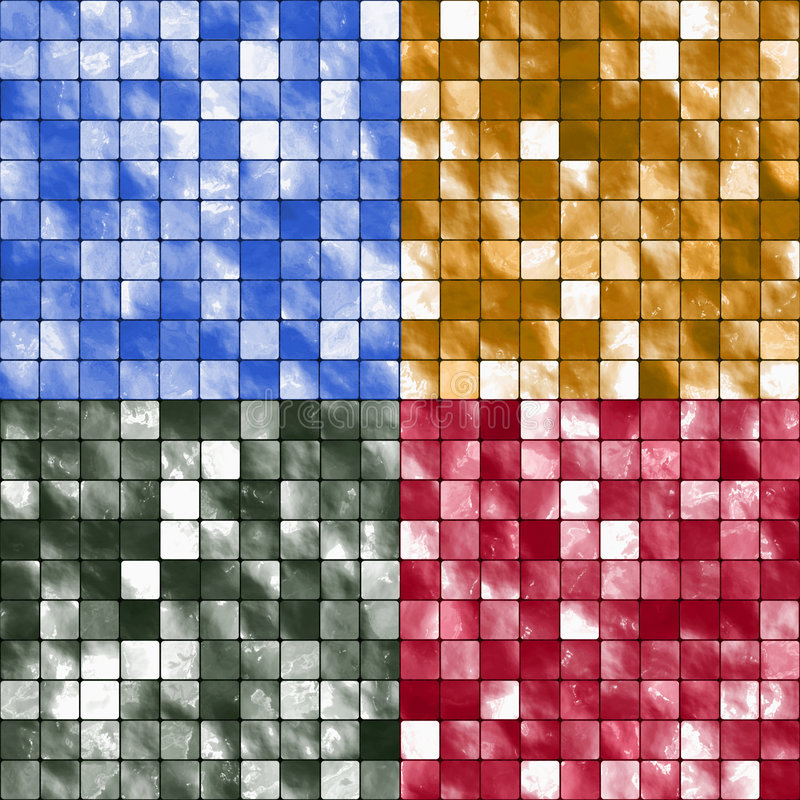 Tile Mosaic Backgrounds royalty free illustration
