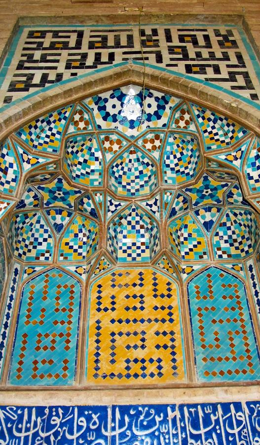 Tile mosaic, Iran stock photos
