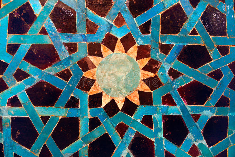 Tile mosaic panel stock image
