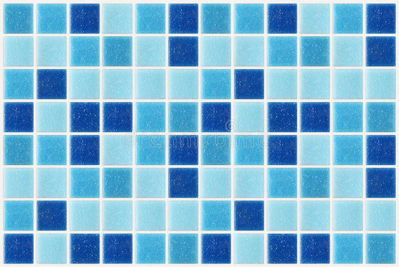 Tile mosaic square blue texture background decorated with glitter. Tile mosaic square blue texture background decorated with glossy glitter royalty free stock photos