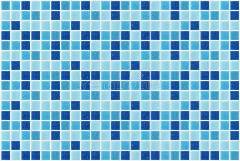 Tile mosaic square blue texture background decorated with glitter. Tile mosaic square blue texture background decorated with glossy glitter stock photo