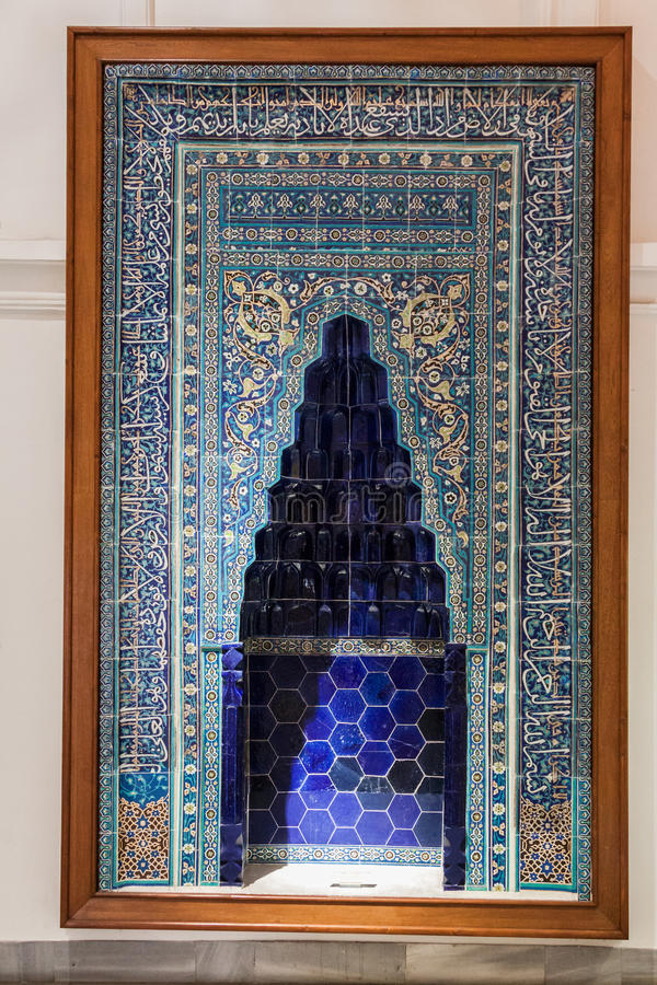 Tile Niche Istanbul. An exquisite adorned tile niche in Istanbul, Turkey stock photography