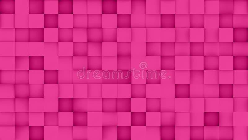 Tile pattern, 3d vector background royalty free illustration