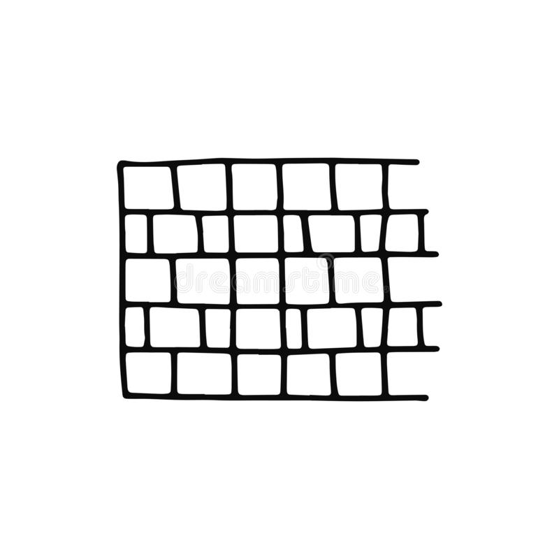 Tile pavement icon. sketch isolated object black.  vector illustration