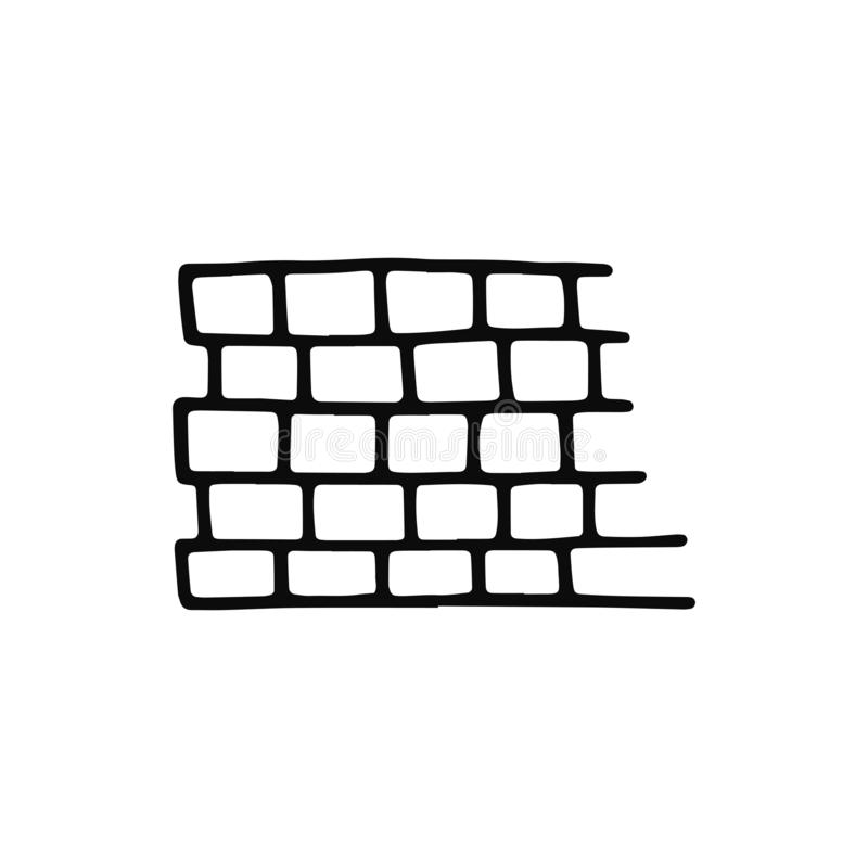 Tile pavement icon. sketch isolated object black.  stock illustration