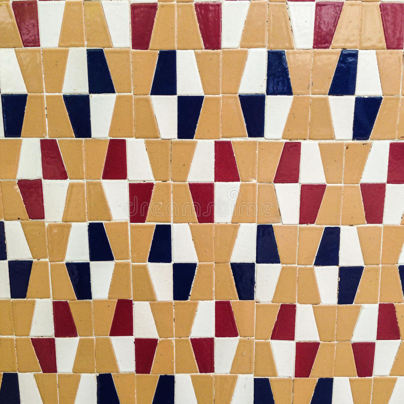 Tile of red, black, white and beige patterns. royalty free stock photos