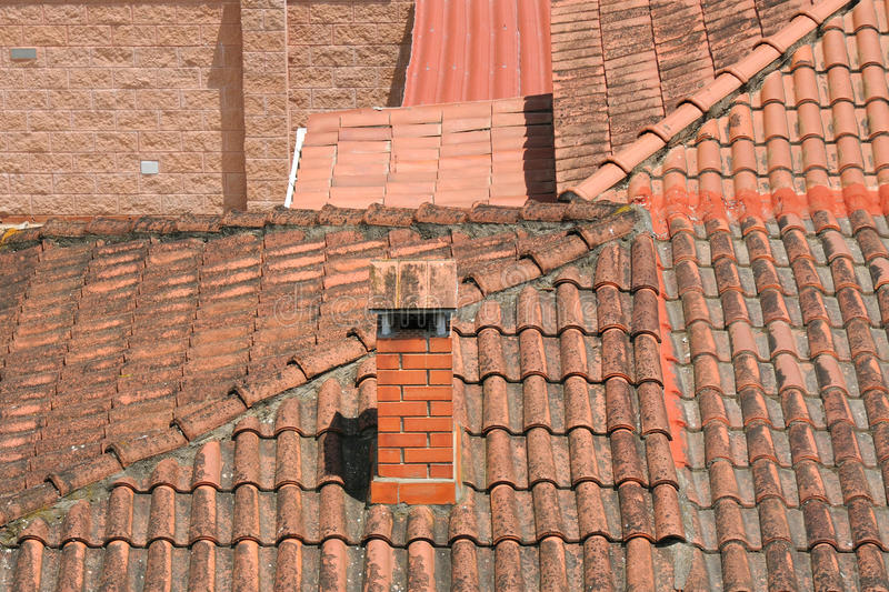 Tile Roofs Royalty Free Stock Image