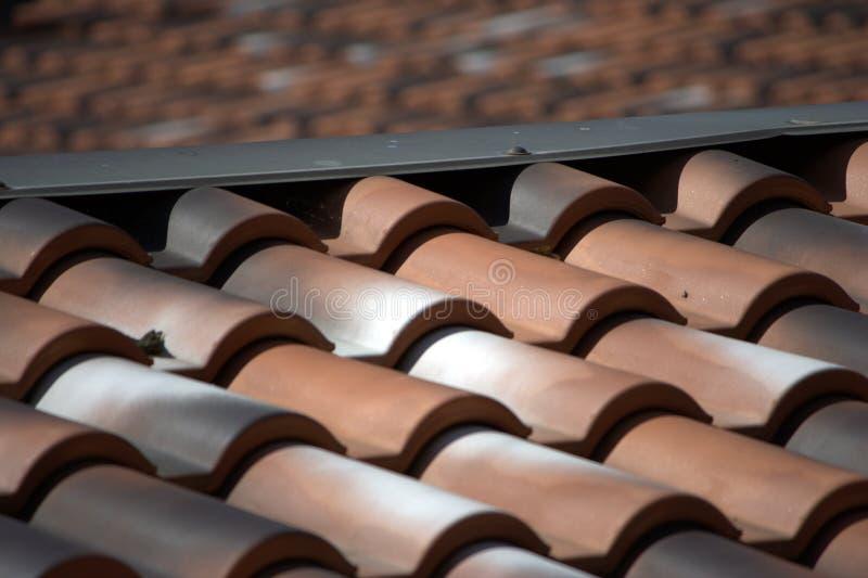 Tile roofs angle stock photos