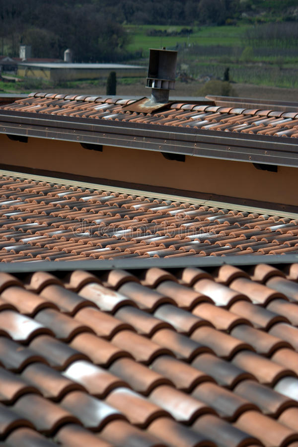 Tile Roofs Angles Stock Images