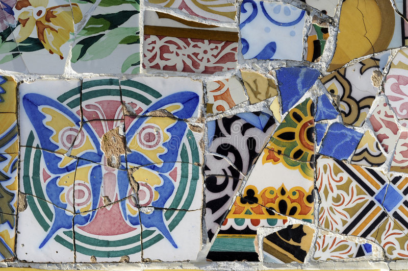 Download Tile Series 1, Guell Parc stock photo. Image of guell - 8978898