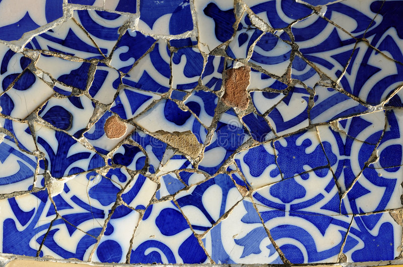 Download Tile Series 11, Guell Parc stock photo. Image of macro - 9130260