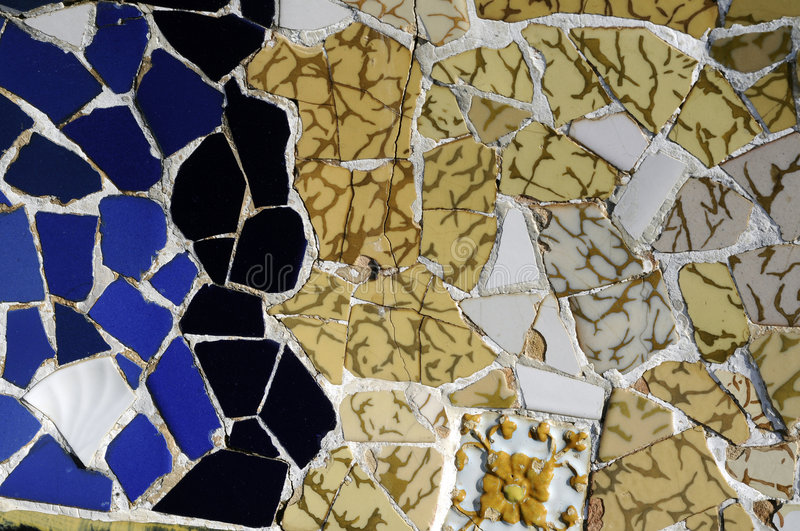 Download Tile Series 2, Guell Parc stock image. Image of exteriorshape - 9129803