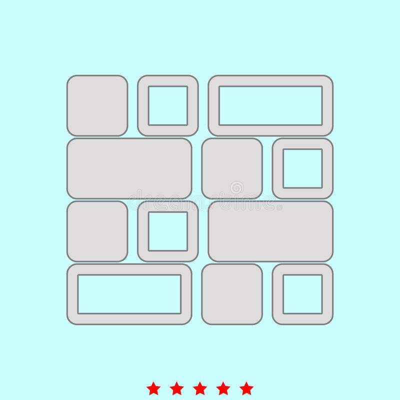 Tile set it is color icon . Simple style vector illustration