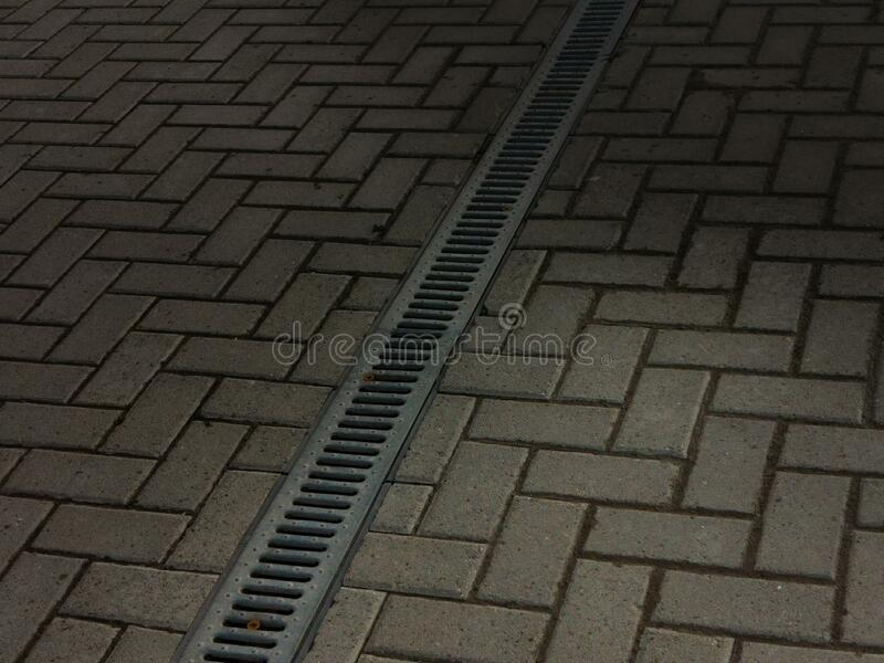 Tile sidewalk as an abstraction. royalty free stock photos