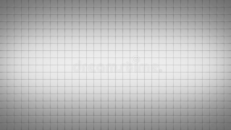 Tile Square Wall Pattern Background. 3d render simple straight illustration of squares. Geometric abstract background of grey color. Tile wallpaper royalty free illustration