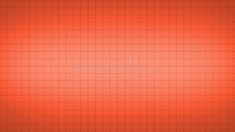 Tile Square Wall Pattern Background Red. 3d render simple straight illustration of squares. Geometric abstract background of red color. Tile wallpaper vector illustration