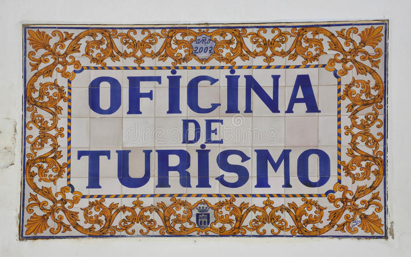Tile of a tourist information centre royalty free stock photo