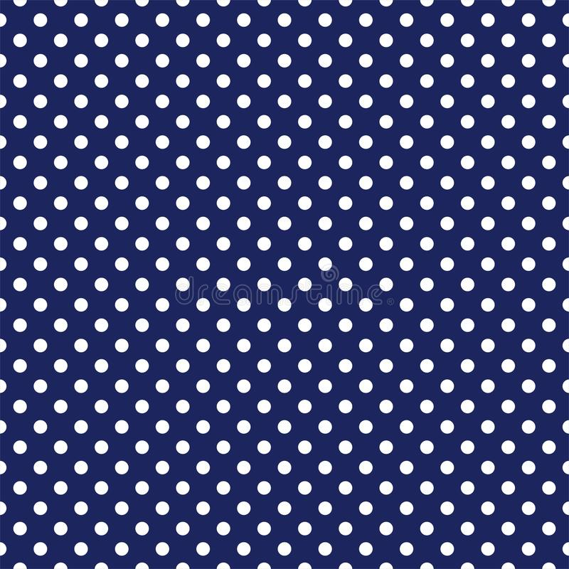 Tile Vector Pattern With White Polka Dots On Navy Blue ...