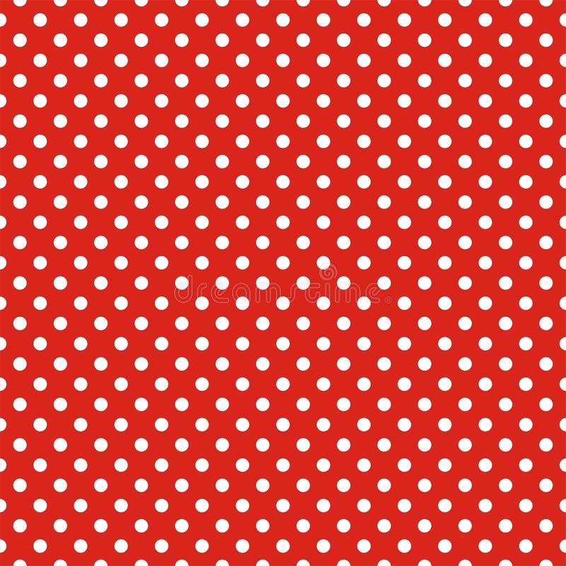 Download Tile Vector Pattern With White Polka Dots On Red Background Stock