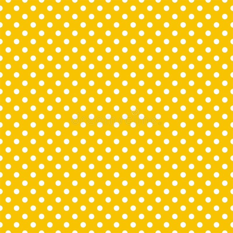 download tile vector pattern with white polka dots on yellow background stock vector illustration of