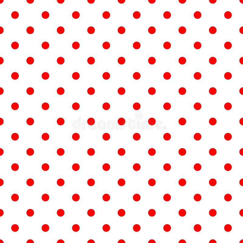 Free Tile Vector Pattern With Red Polka Dots On White Background Royalty Free Stock Photo - 103181015