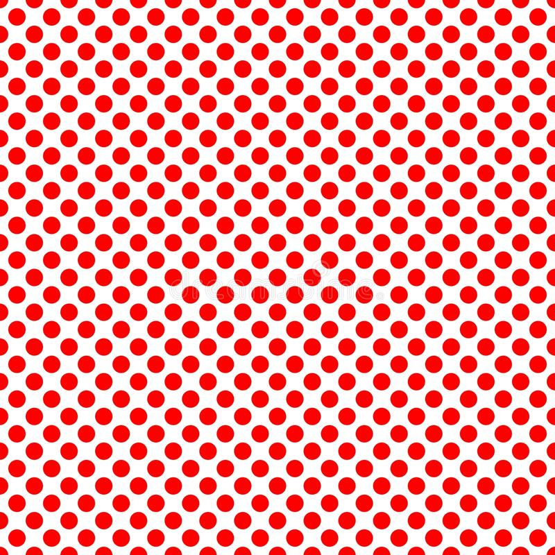 Free Tile Vector Pattern With Red Polka Dots On White Background Stock Photography - 103887502