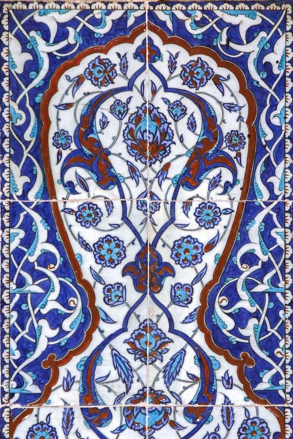 Tile wall decoration of Rustem Pasha Mosque, Istanbul. Turkey royalty free stock photo