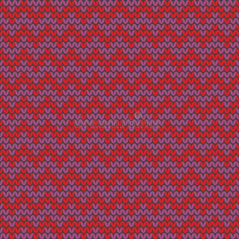 Tile Zig Zag Knitting Vector Pattern Or Winter Background Stock