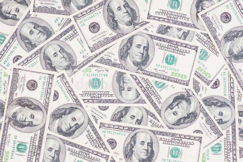 Tileable和无缝反复性的100's美国货币 库存照片