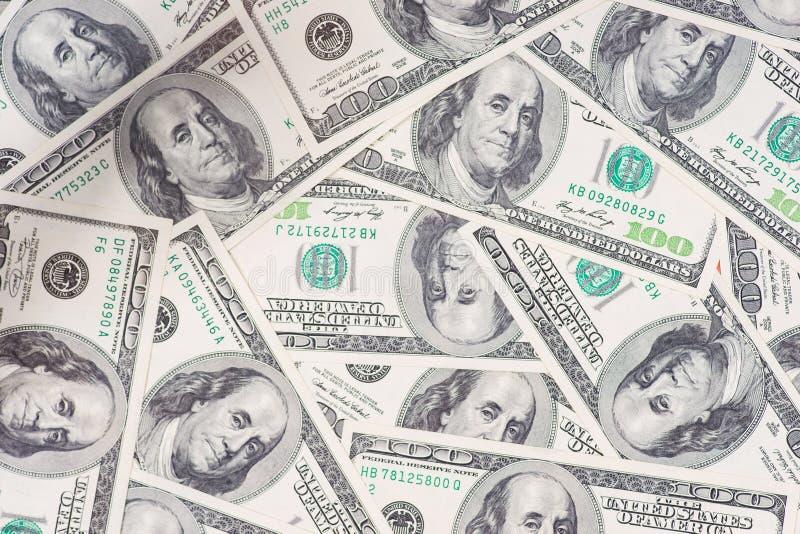 Tileable和无缝反复性的100's美国货币 免版税图库摄影