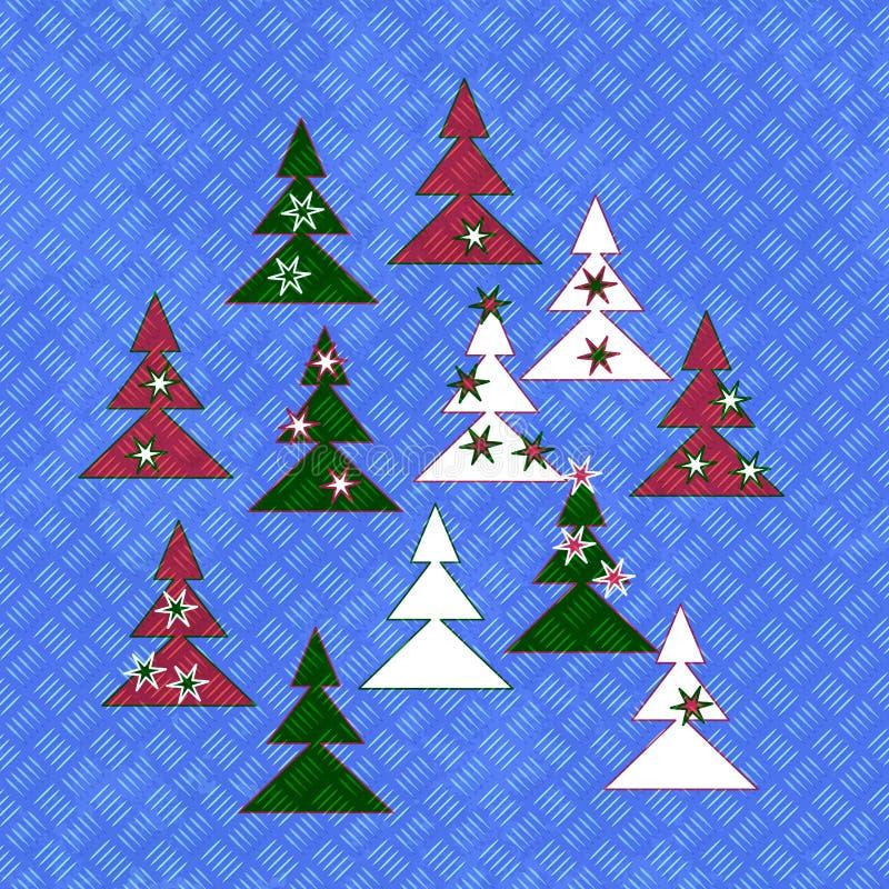 Tileable金属片绘与圣诞树 皇族释放例证