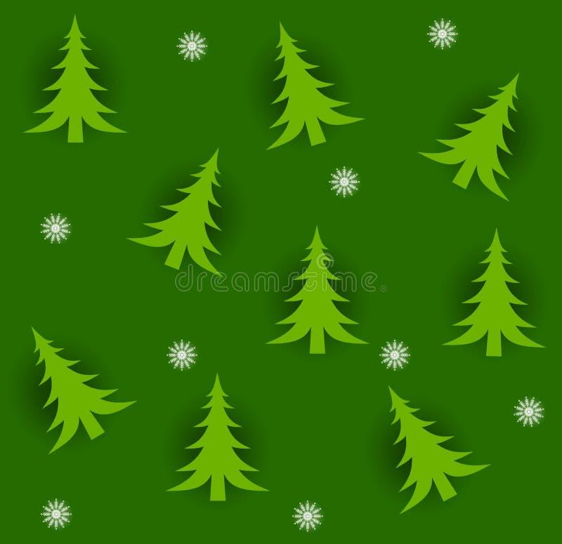 Tileable Christmas Trees Royalty Free Stock Photos