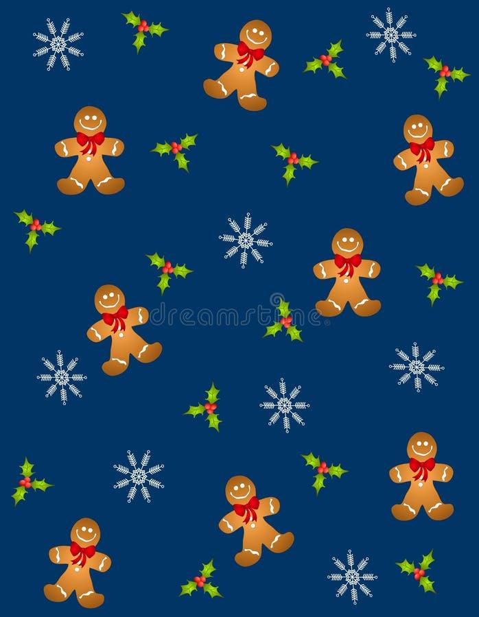 Tileable Gingerbread Men 2 royalty free illustration