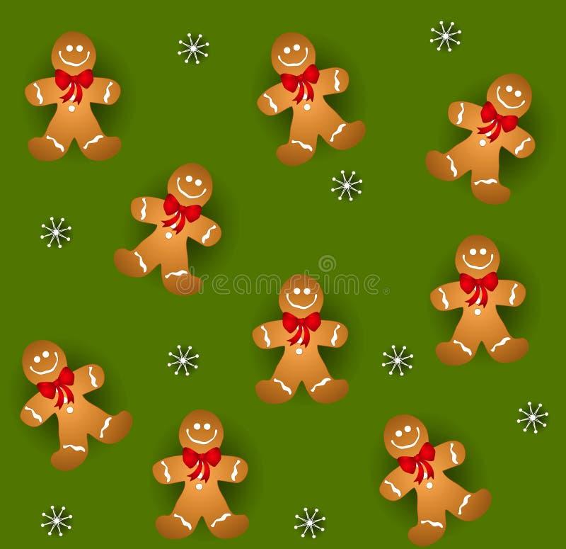 Tileable Gingerbread Men stock illustration